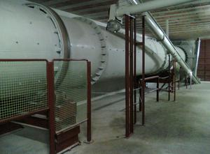 Séchoir à tambour rotatif pour marc, sciure ou copeaux de bois  oven 50 000 KG