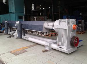 Used Tecnova 130 mm 54 L/D double degassing system Extrusion - Twin screw extruder