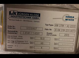 Hansa HW 3789/A2-2215 P01209115