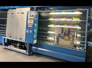 Stefiglas 1300 OT- 4 brushes Glass washing / coating and printing machine