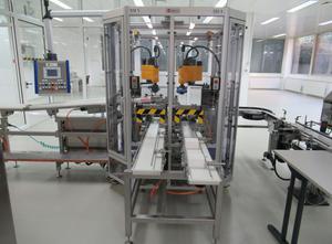 Merz KT160 halbautomatische Verpackungslinie zum Verpacken von Sticks in vorgefalzte Faltschachteln
