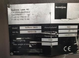 Bystronic BySpeed 3015 Bylaser 4400W P10126045