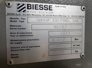 BIESSE SEKTOR 430 P10129143