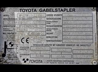 TOYOTA 8FG35N P210318021
