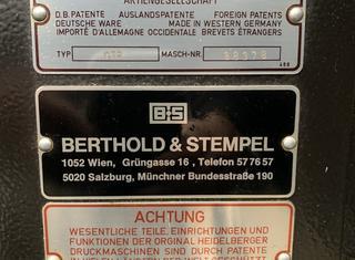 Heidelberg A3 GTP P210323111