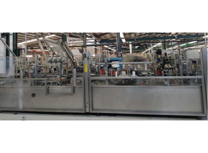 Automatic monobloc for labelling and shrinking