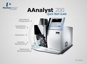 PerkinElmer AAnalyst200 Quick Start Guide