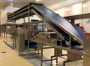 Línea completa de producción de croissant, galletas Rademaker Puff Pastry line