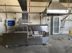 Europack  + PMF Vari + Falcom Rice waffle production and packaging line. production line