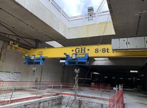 GH 2 X 8 T suspended single girder overhead crane