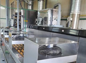 Forno a tunnel Haas Rolled Wafer Cone Oven