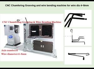 CNC Chamfering Grooving & Wire Bending Machine wire dia 4-8mm