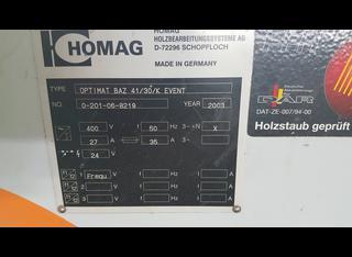 Homag OPTIMAT BAZ 41/30/K EVENT P210702039