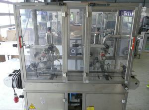 Neri DL 400V Haftetikettiermaschine zur Obenaufetikettierung (Vignette) von Faltschachteln, etc.