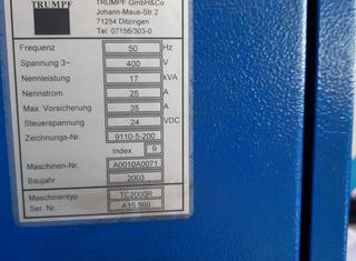 Trumpf Tr 2000 Rotation P2107141058