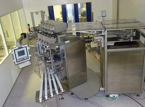 Merz SPM-50 5-lane stick pack machine for sticks of liquid and semi-solid pharmaceutical products