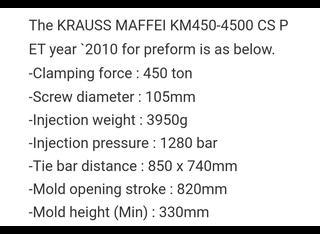 Krauss Maffei 450 - 4500 CS Pet P00619124