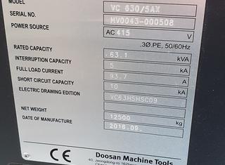 Doosan VC630/5AX P210304097
